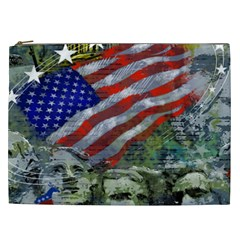 Usa United States Of America Images Independence Day Cosmetic Bag (xxl)  by Sapixe