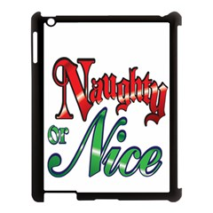 Vintage Christmas Naughty Or Nice Apple Ipad 3/4 Case (black)