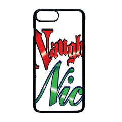 Vintage Christmas Naughty Or Nice Apple Iphone 8 Plus Seamless Case (black)