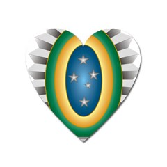 Seal Of The Brazilian Army Heart Magnet by abbeyz71