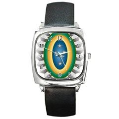 Seal Of The Brazilian Army Square Metal Watch by abbeyz71
