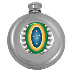 Seal Of The Brazilian Army Round Hip Flask (5 Oz) by abbeyz71