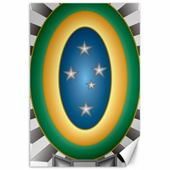 Seal Of The Brazilian Army Canvas 24  X 36  by abbeyz71