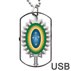 Seal Of The Brazilian Army Dog Tag Usb Flash (two Sides) by abbeyz71