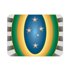 Seal Of The Brazilian Army Double Sided Flano Blanket (mini)  by abbeyz71