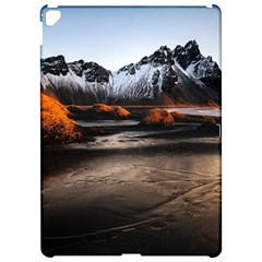Vestrahorn Iceland Winter Sunrise Landscape Sea Coast Sandy Beach Sea Mountain Peaks With Snow Blue Apple Ipad Pro 12 9   Hardshell Case by Sapixe