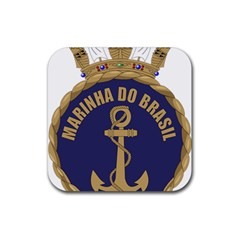 Seal Of Brazilian Navy  Rubber Coaster (square)  by abbeyz71