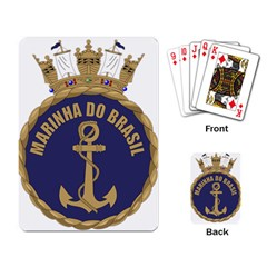 Seal Of Brazilian Navy  Playing Card by abbeyz71