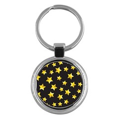 Yellow Stars Pattern Key Chains (round)  by Sapixe