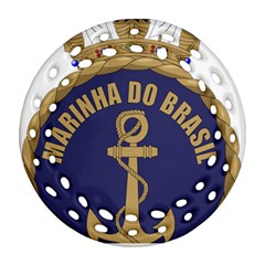 Seal Of Brazilian Navy  Round Filigree Ornament (two Sides) by abbeyz71