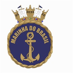 Seal Of Brazilian Navy  Small Garden Flag (two Sides) by abbeyz71
