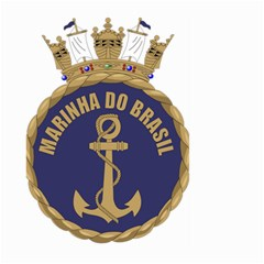Seal Of Brazilian Navy  Large Garden Flag (two Sides) by abbeyz71