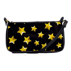Yellow Stars Pattern Shoulder Clutch Bags by Sapixe