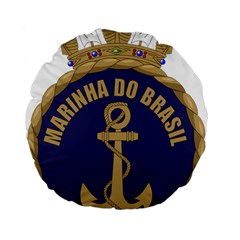 Seal Of Brazilian Navy  Standard 15  Premium Flano Round Cushions by abbeyz71