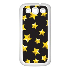 Yellow Stars Pattern Samsung Galaxy S3 Back Case (white) by Sapixe
