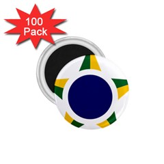 Roundel Of Brazilian Air Force 1 75  Magnets (100 Pack)