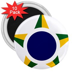 Roundel Of Brazilian Air Force 3  Magnets (10 Pack)  by abbeyz71