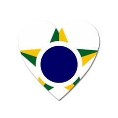 Roundel Of Brazilian Air Force Heart Magnet by abbeyz71