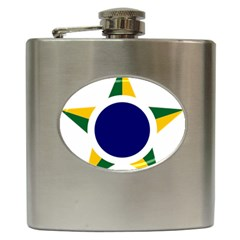 Roundel Of Brazilian Air Force Hip Flask (6 Oz) by abbeyz71