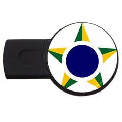 Roundel Of Brazilian Air Force Usb Flash Drive Round (4 Gb) by abbeyz71