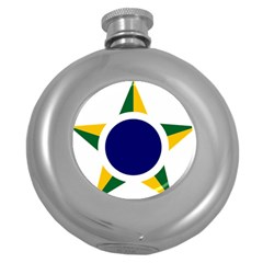 Roundel Of Brazilian Air Force Round Hip Flask (5 Oz) by abbeyz71
