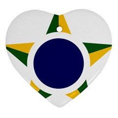 Roundel Of Brazilian Air Force Heart Ornament (two Sides) by abbeyz71