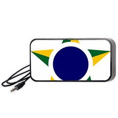 Roundel Of Brazilian Air Force Portable Speaker by abbeyz71