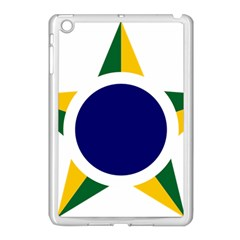 Roundel Of Brazilian Air Force Apple Ipad Mini Case (white) by abbeyz71