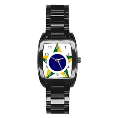 Roundel Of Brazilian Air Force Stainless Steel Barrel Watch by abbeyz71