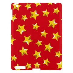 Yellow Stars Red Background Pattern Apple Ipad 3/4 Hardshell Case by Sapixe
