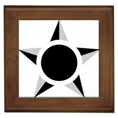 Roundel Of Brazilian Air Force (low Visibility) Framed Tiles by abbeyz71