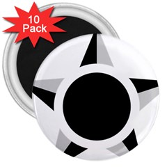 Roundel Of Brazilian Air Force (low Visibility) 3  Magnets (10 Pack)  by abbeyz71