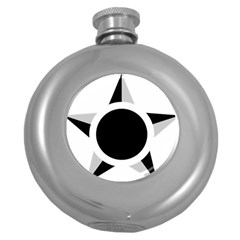 Roundel Of Brazilian Air Force (low Visibility) Round Hip Flask (5 Oz) by abbeyz71