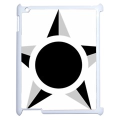 Roundel Of Brazilian Air Force (low Visibility) Apple Ipad 2 Case (white) by abbeyz71