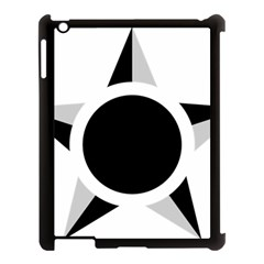 Roundel Of Brazilian Air Force (low Visibility) Apple Ipad 3/4 Case (black) by abbeyz71