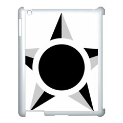 Roundel Of Brazilian Air Force (low Visibility) Apple Ipad 3/4 Case (white) by abbeyz71