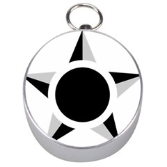 Roundel Of Brazilian Air Force (low Visibility) Silver Compasses by abbeyz71