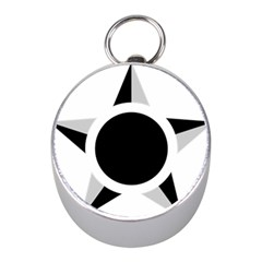 Roundel Of Brazilian Air Force (low Visibility) Mini Silver Compasses by abbeyz71