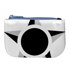 Roundel Of Brazilian Air Force (low Visibility) Large Coin Purse by abbeyz71