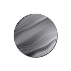 Wave Form Texture Background Rubber Round Coaster (4 Pack)  by Sapixe