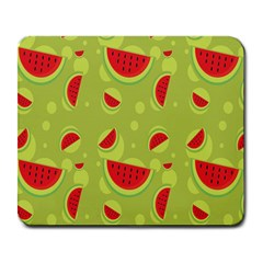 Watermelon Fruit Patterns Large Mousepads by Sapixe