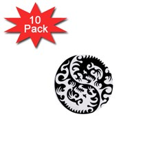 Ying Yang Tattoo 1  Mini Buttons (10 Pack)