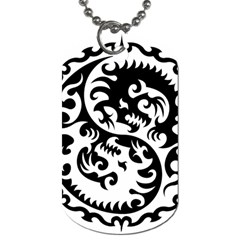 Ying Yang Tattoo Dog Tag (two Sides)