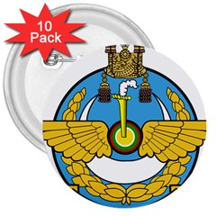 Emblem Of Royal Brunei Air Force 3  Buttons (10 Pack)  by abbeyz71