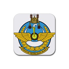 Emblem Of Royal Brunei Air Force Rubber Coaster (square)  by abbeyz71