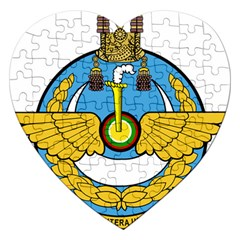 Emblem Of Royal Brunei Air Force Jigsaw Puzzle (heart) by abbeyz71