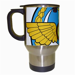 Emblem Of Royal Brunei Air Force Travel Mugs (white) by abbeyz71