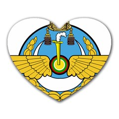 Emblem Of Royal Brunei Air Force Heart Mousepads by abbeyz71