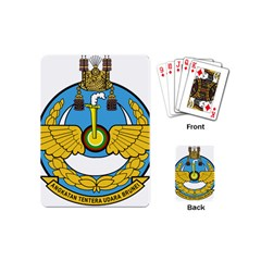 Emblem Of Royal Brunei Air Force Playing Cards (mini)  by abbeyz71