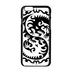Ying Yang Tattoo Apple Iphone 6/6s Black Enamel Case